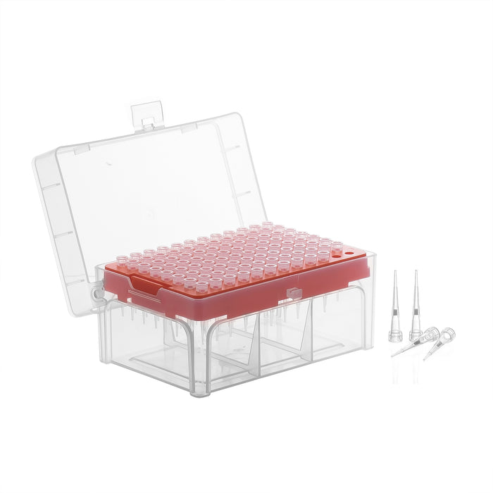 Racked Filtered Micropipette Tips - Sterile, 0.2-10 microliter  - Rack of 96