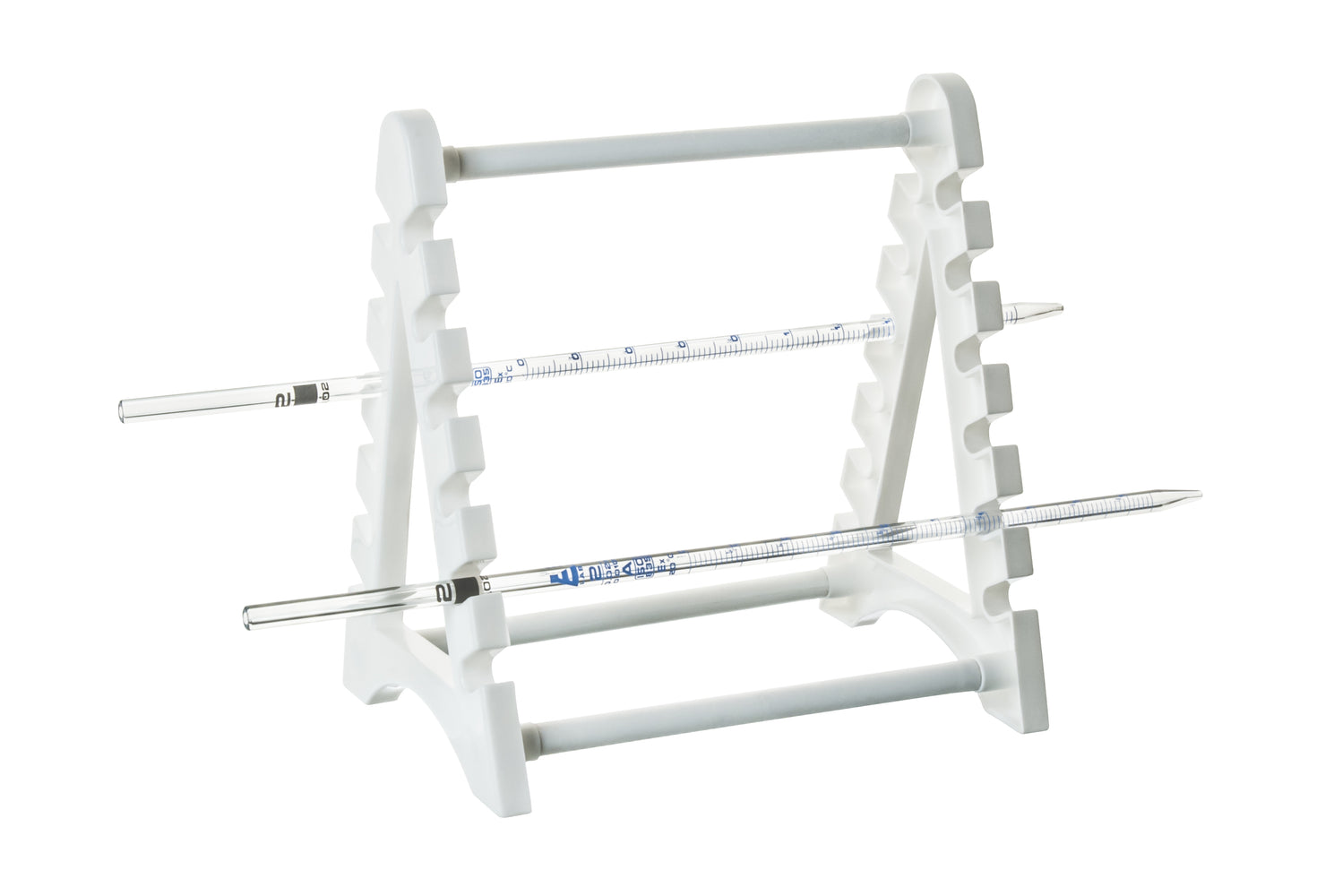 Polypropylene Pipette Rack - Holds 12 Pipettes Horizontally - Eisco Labs