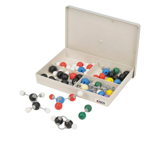 EISCO Basic Inorganic and Organic Chemistry Molecular Model Set, 64 Pieces