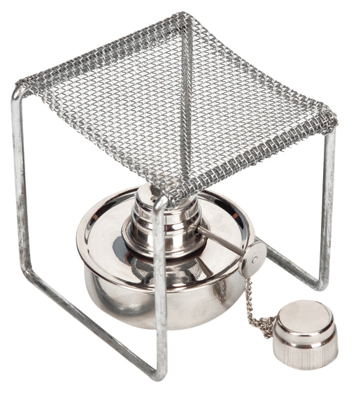 EISCO Convertible Stand for Alcohol Burner, Chrome Plated Steel Wire, 125mm