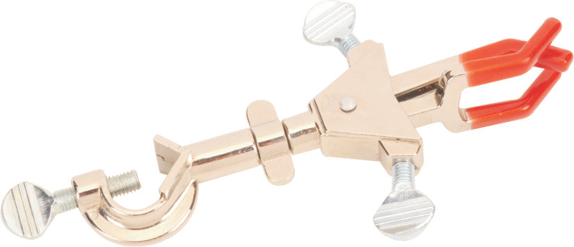 3 Prong Double Adjustable Universal Clamp, with integral bosshead