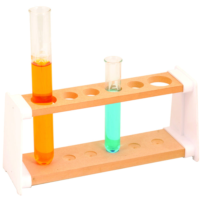 Test Tube Stand, Wooden, 6 holes