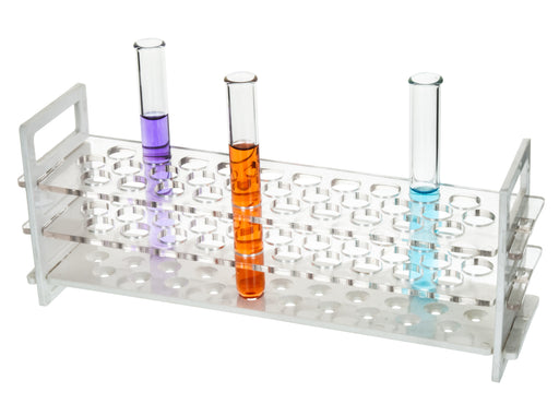 Test Tube Stand, Polycarbonate, Size 32mm x 12 Tubes