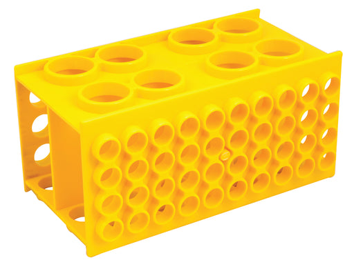 Universal Multi Size Test Tube Rack - Polypropylene - Holds 30mm, 20mm, 17mm, and 12mm Diameter Test Tubes