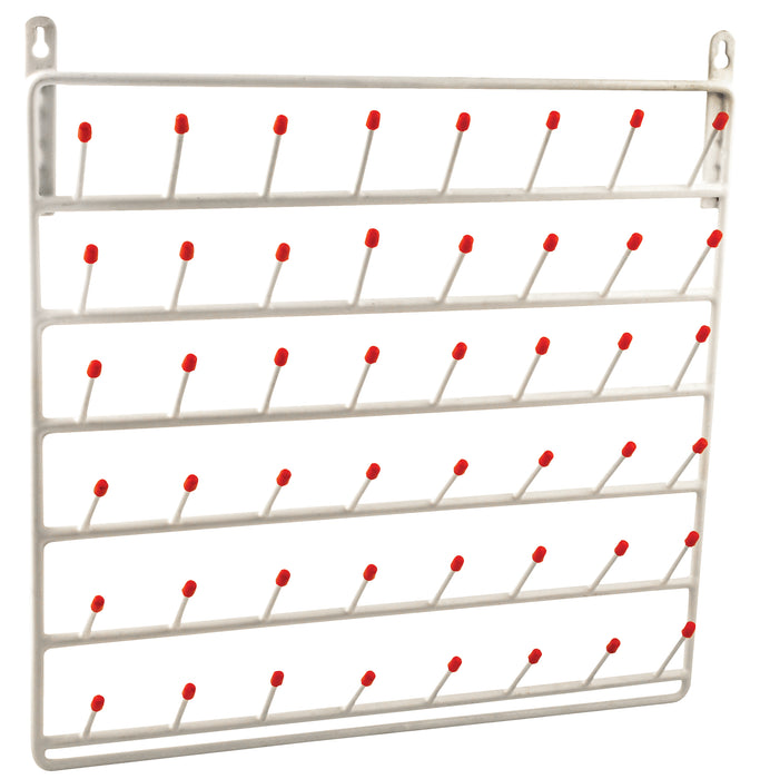 Draining Rack wall mounted, 48 pegs