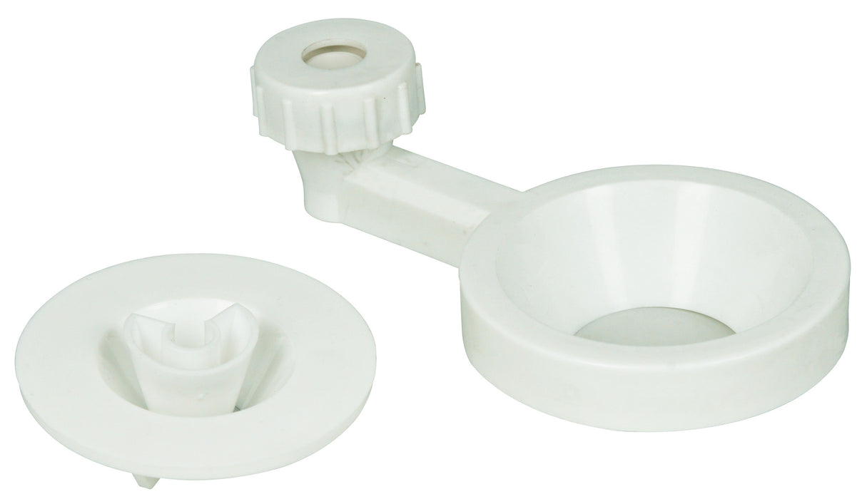 Funnel Holder - Porcelain - Double