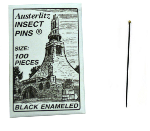 Premium Insect Entomology Dissection Pins, Size 2, Museum Grade, Pack of 100
