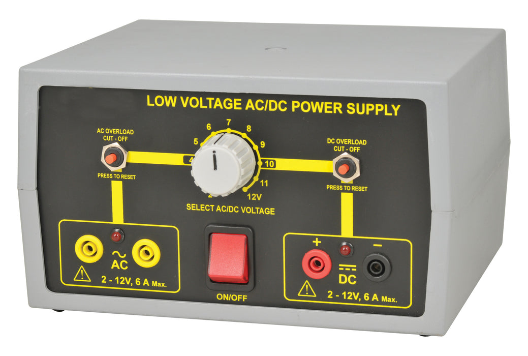 Power Supply, Low Voltage AC / DC, 2-12V/6A