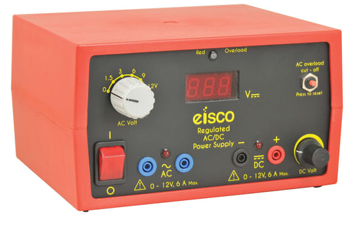 EISCO Power Supplies Low Voltage AC/ DC 12V/6A