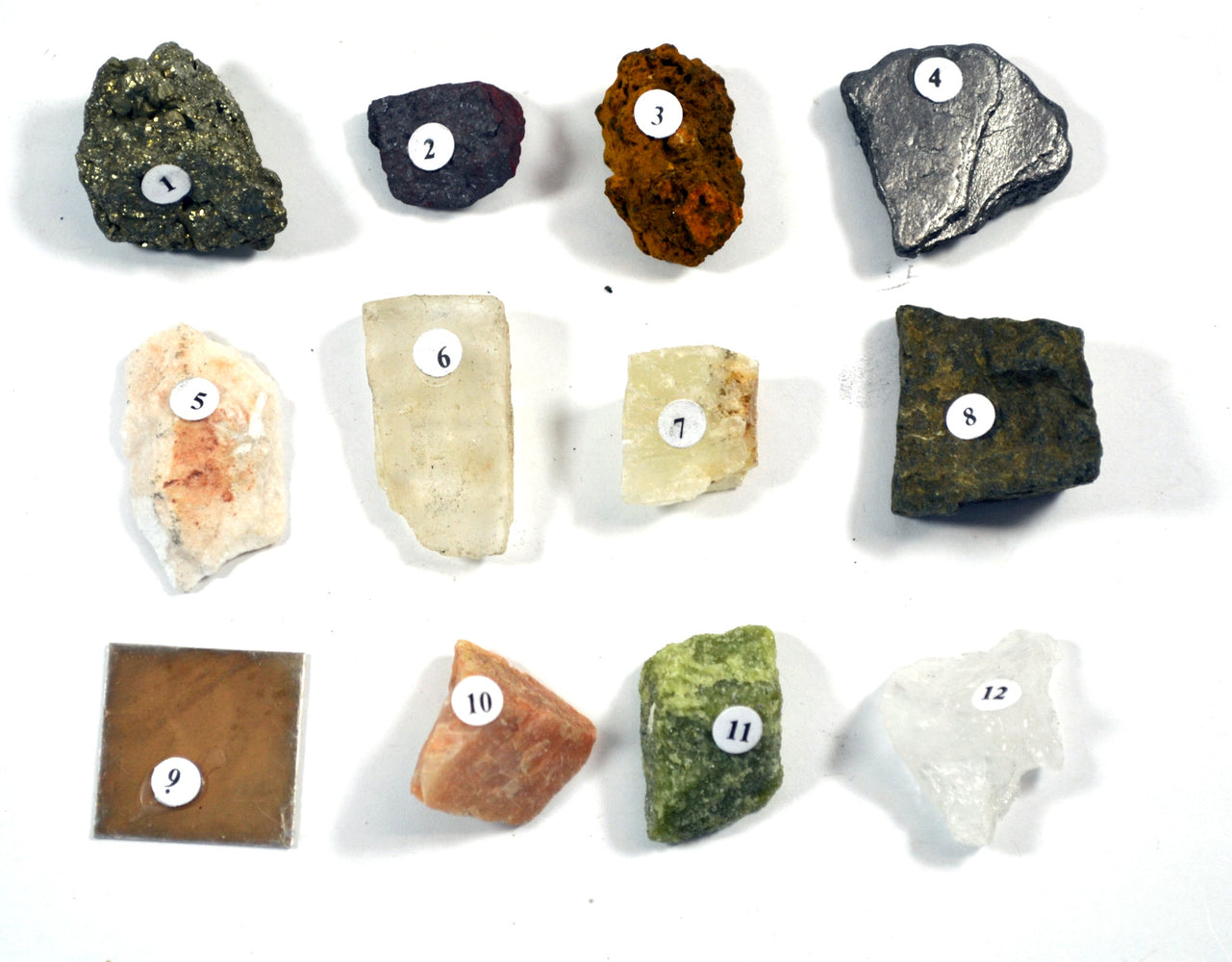 "Eisco Physical Properties of Minerals Kit - Contains 12 specimens measuring approx. 1"" (3cm)"