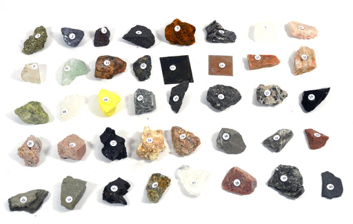 "Eisco Basic Rocks and Minerals Kit - Contains 40 specimens measuring approx. 1"" (3cm)"
