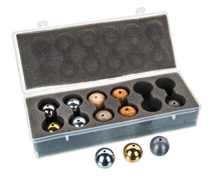 EISCO Drilled Ball Set in Plastic Case