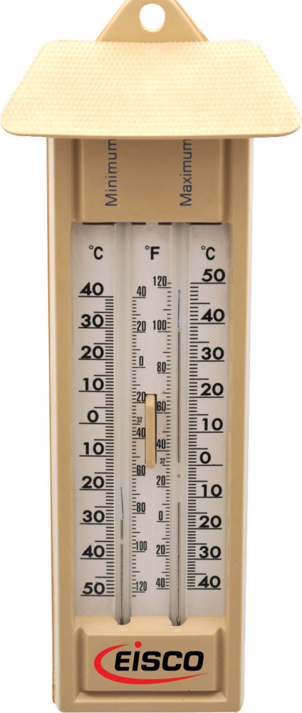 Thermometers Maximum and Minimum Six's Double Scale, Mercury Filled, -40 to 50°Cx1°C & -40 to 120°Fx2°F