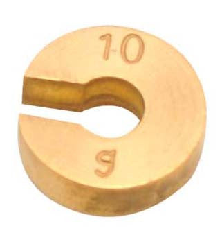 Masses Slotted Spare - Brass, 10g