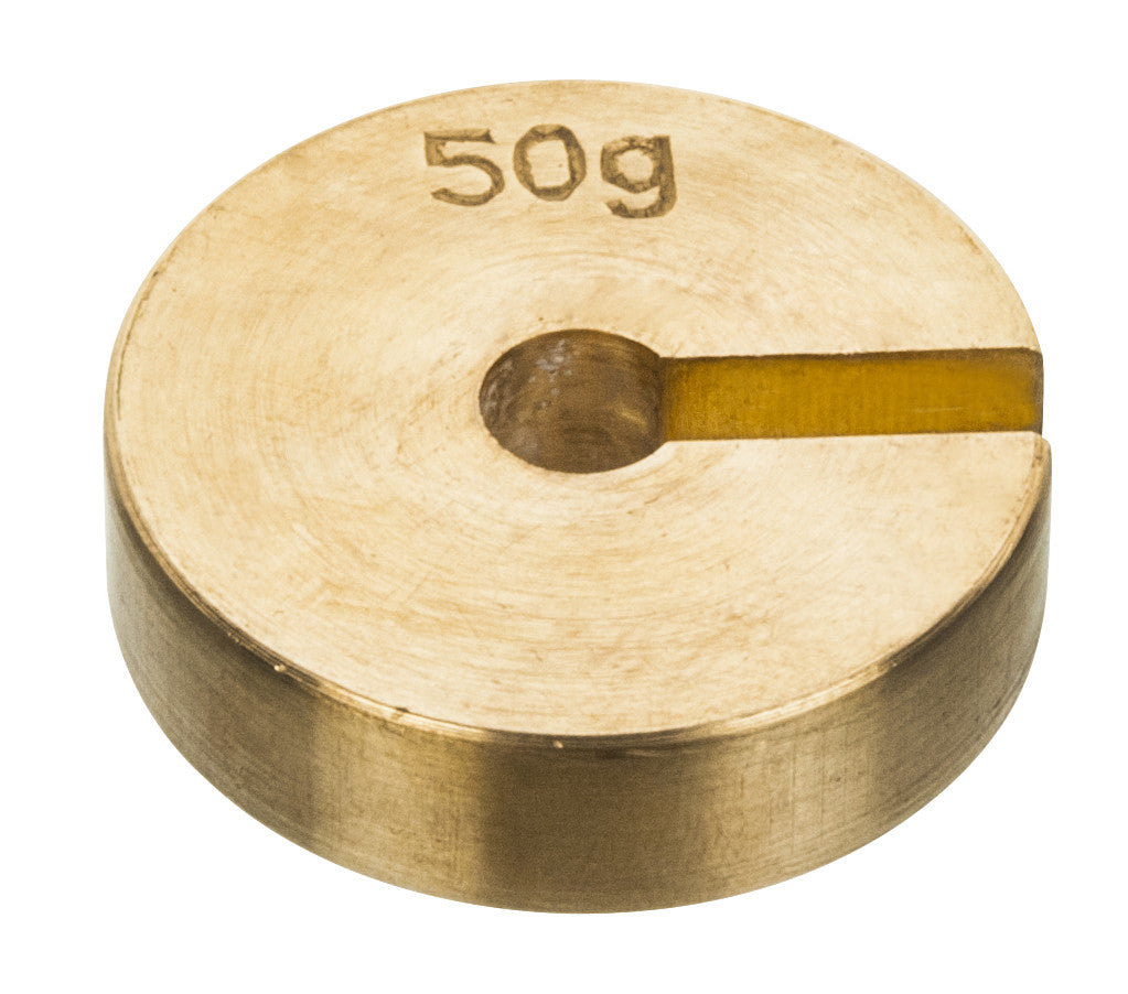 Masses Slotted Spare - Brass, 50g
