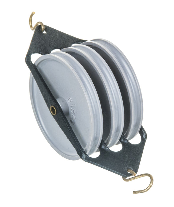 EISCO Plastic Pulley, Triple-Parallel, 50mm Diameter
