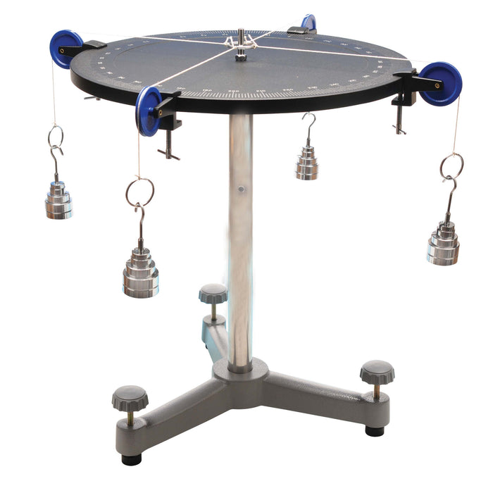 Force Table with brass weights