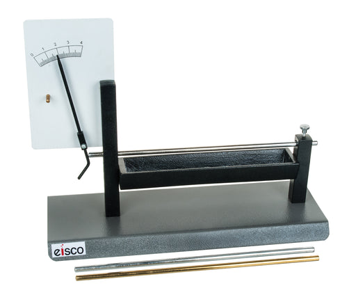 Pyrometer, Linear Expansion Demonstration, Metal Base, Includes Aluminum, Brass, and Iron Expansion Bars - Eisco Labs