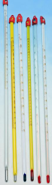 Thermometers Mercury - White Backed, -10 to 360°C