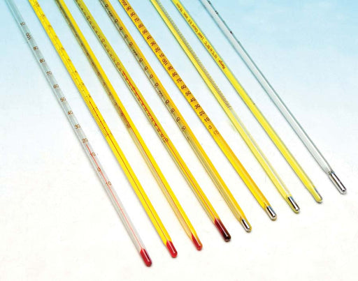 Thermometers Mercury - Yellow Backed, -10 to 50°C