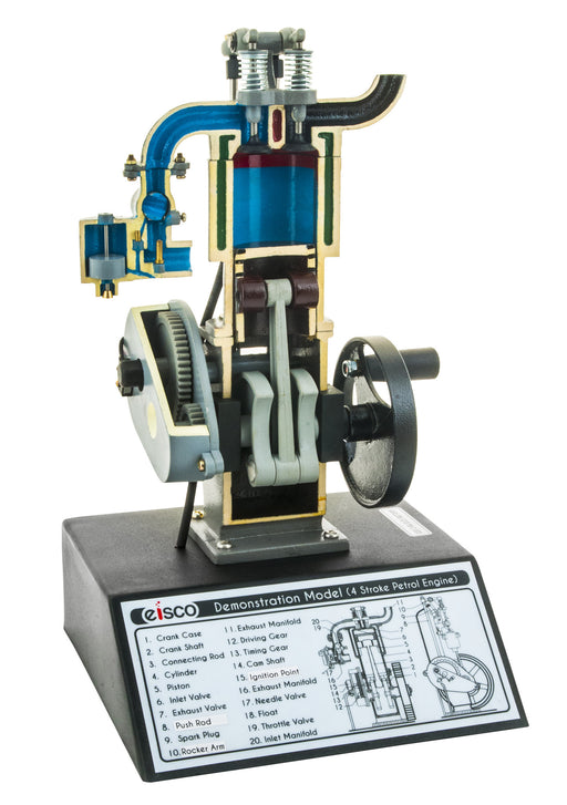 EISCO Four-stroke Gas Engine Model, Hand Powered
