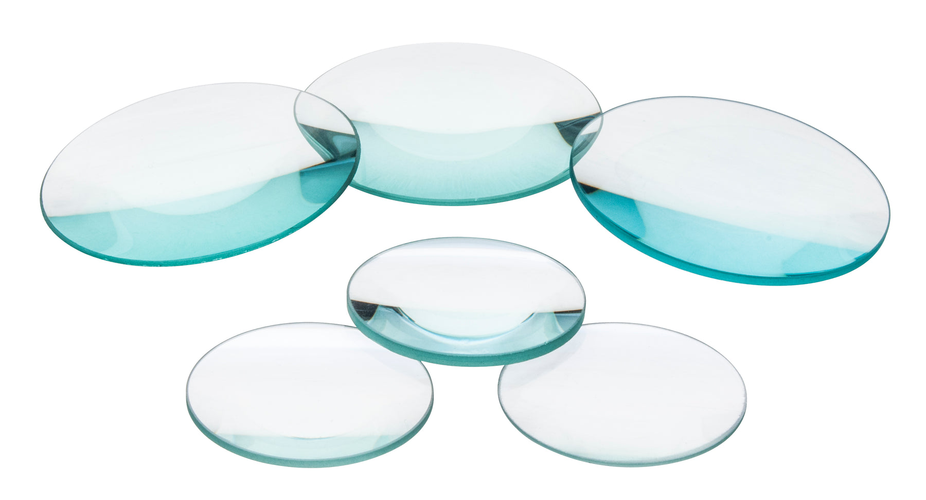 Glass Lenses - Double Convex & Concave, Dia - 50 mm, F.L. - 1000 mm