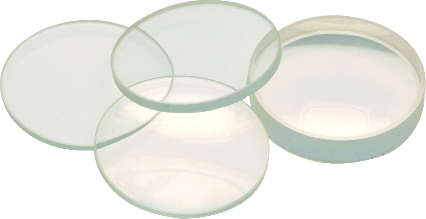 Glass Lenses - Double Convex & Concave, Dia - 40 mm, F.L. - 300 mm