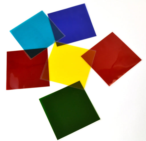 Set of 6 Coloured Filters - Unmounted