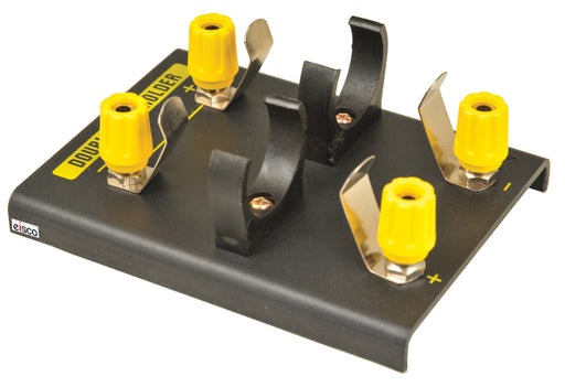 'D' Battery Holder for 2 batteries with 4mm Banana Plugs - DC Power Supply Alternative - RoHS