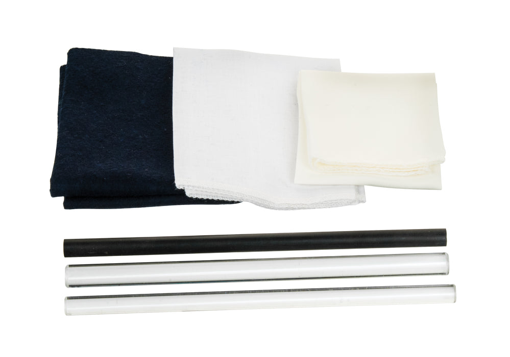 Electrostatic Friction Rod Kit : 3 Cloths, 3 Rods