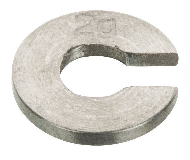 Masses Slotted Spare - Stainless Steel, 2 g