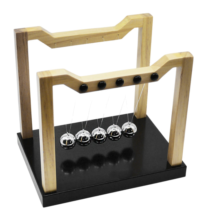 Engineer's Newton's Cradle, 8 Inch - Premium Quality - Completely Assembled - Eisco Labs
