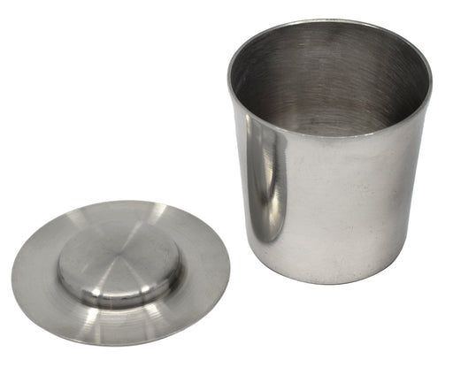 Crucible & Lid, 100ml - Nickel - Withstands Temperatures up to 1000??C - Eisco Labs