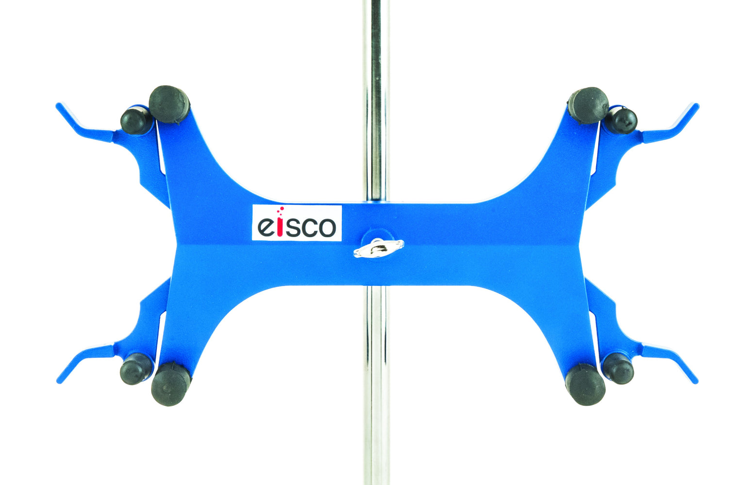 "Eisco Labs Burette/Tube Clamp, Double, High Strength Alloy - Spring Loaded Jaws - 7/8"" Width Capacity, Max 16mm Dia. Rod"
