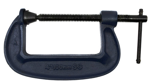 "G-Clamp, Drop Forged Steel - 100mm (4"") Opening Capability - Eisco Labs"