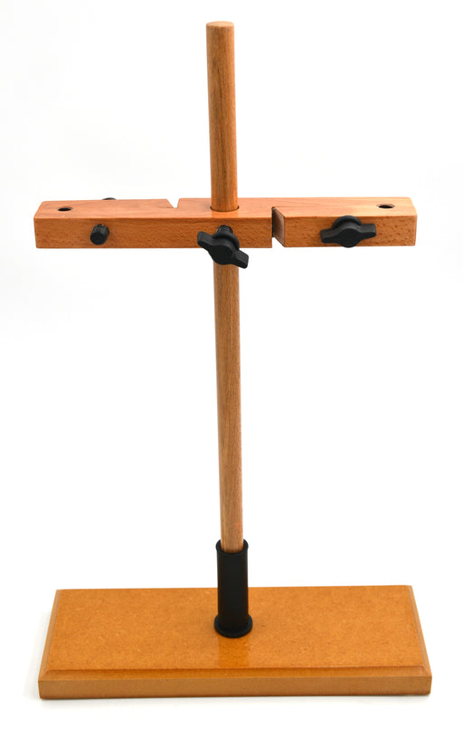 Burette Stand - Double, made of seasoned hardwood