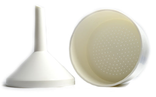 Buchner Funnel, 9cm - Polypropylene, 2 Parts - Designed for 11-12.5cm Filter Paper - Stem Length, 6.5cm - Lightweight, Autoclavable - Eisco Labs