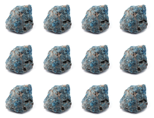 "12PK Raw Apatite Mineral Specimens, 1"" - Geologist Selected Samples - Eisco Labs"