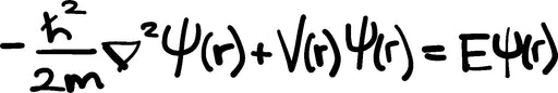 Wave Equation Quantum Mechanics Vinyl Decal
