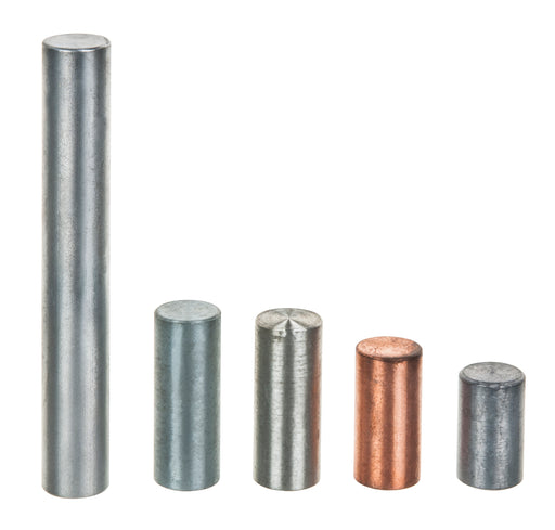 5pc Equal Mass Metal Cylinders Set - Zinc, Copper, Aluminum, Tin & Lead