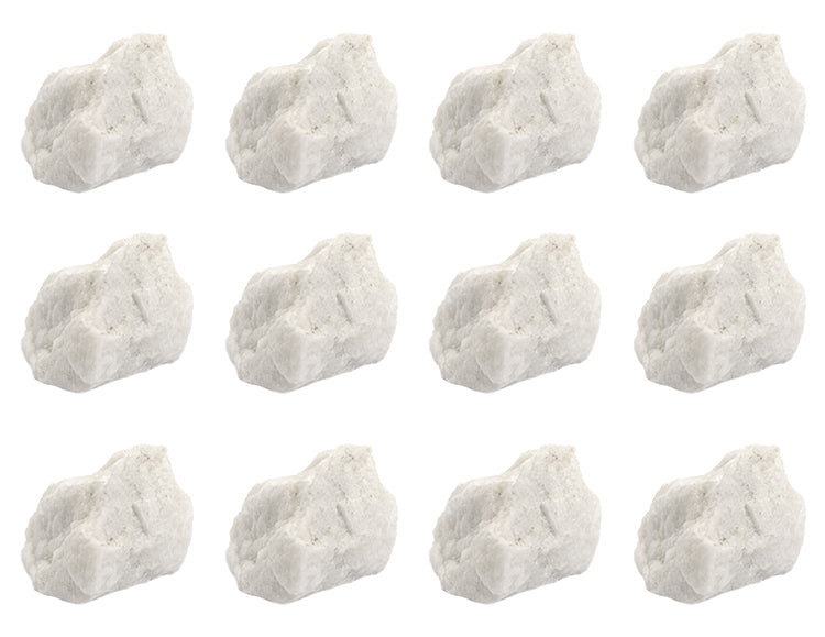 "12PK Raw Microcline, Mineral Specimens - Approx. 1"" - Geologist Selected & Hand Processed - Great for Science Classrooms - Class Pack - Eisco Labs"