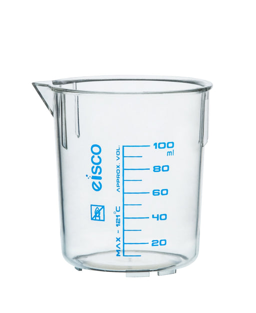 Beaker, 250ml,  TPX Plastic, with Spout - Eisco Labs