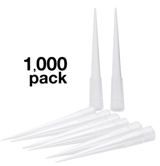 1000PK Micropipette Tips, 2.0-200µl Capacity - Non-Sterile, Autoclavable - Eisco Labs