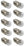 10PK Flash Lamp Bulbs, Round - 4.5V with M.E.S. Cap