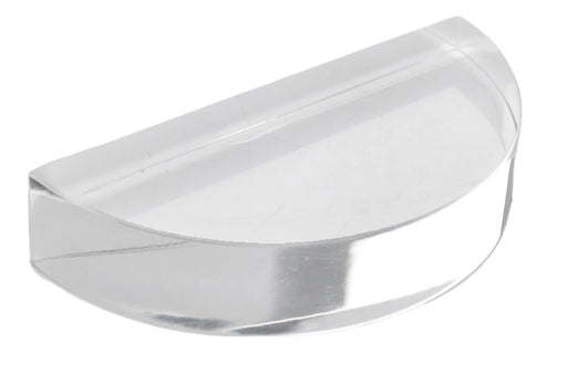 Semicircular Block, 3 Inch - Acrylic - Polished Sides - For Use In Light Refraction and Optics Experiments - Eisco Labs