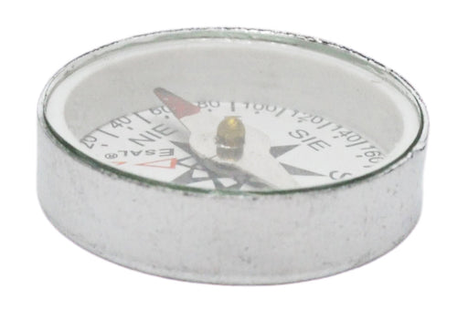 Mini Compass, 25mm - For Plotting - With Glass Face And Aluminium Case - Marked with Principal Points - Eisco Labs