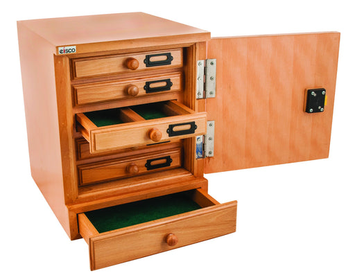 Premium Wooden Slide Cabinet, 10 Drawer - 1000 slide Capacity - Eisco Labs