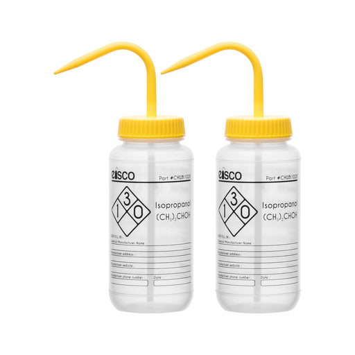 2PK Performance Plastic Wash Bottle, Isopropanol, 500 ml - Labeled (1 Color)