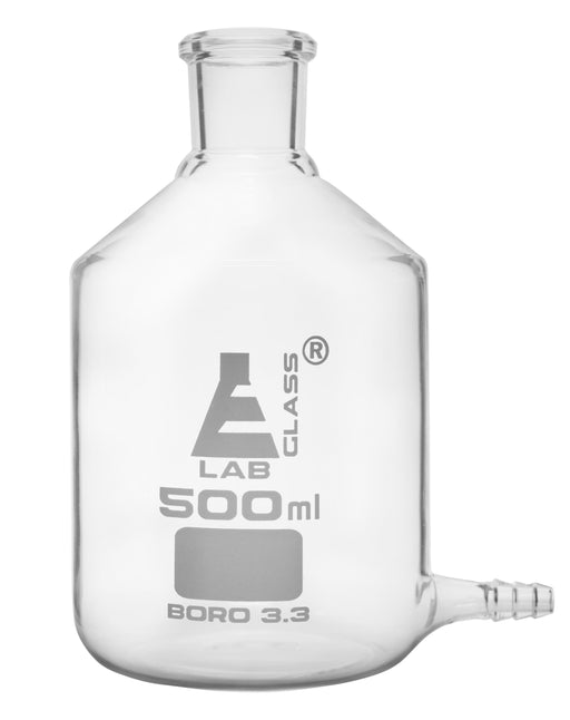 Aspirator Bottle, 500ml - with Outlet for Tubing - Borosilicate Glass - Eisco Labs