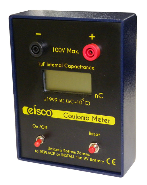 Coulomb Meter, -1999 to 1999 nC - Digital Electroscope - For Use In Electrostatics - Eisco Labs
